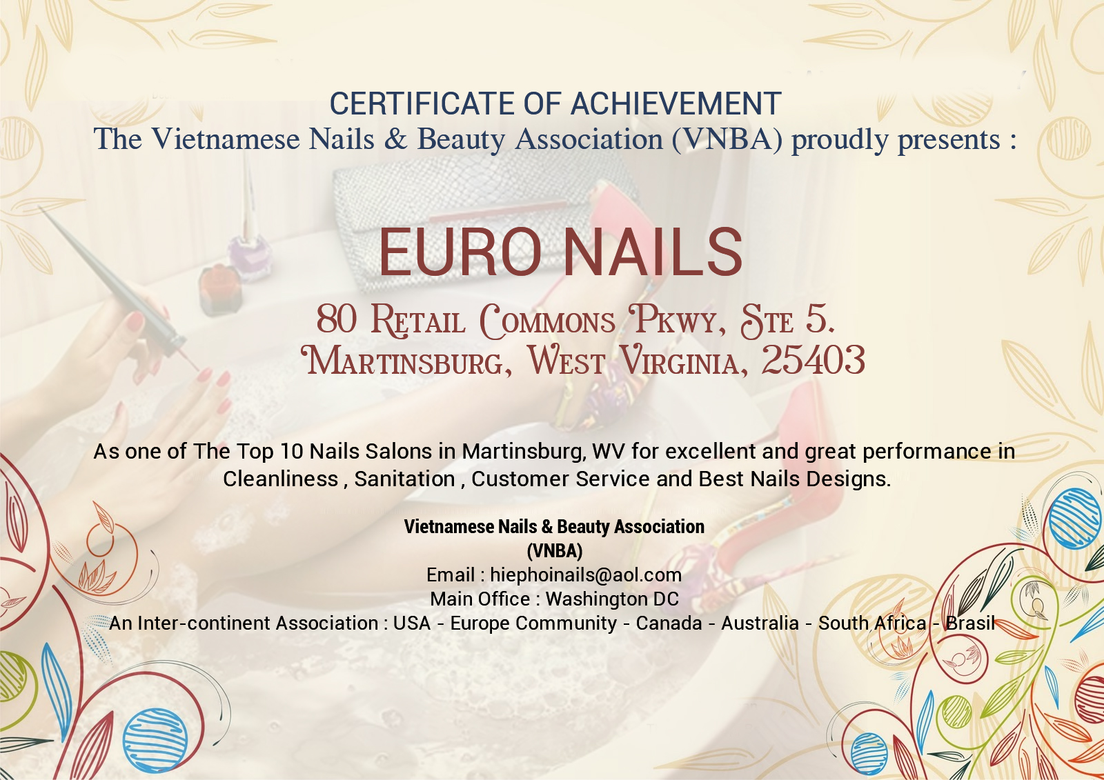Nail salon Martinsburg | Nail salon 25403 | Euro Nails